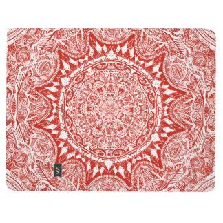 Red mandala pattern journal