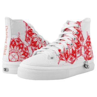 Red Mandala  Shoes