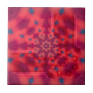 Red Mandala Tile