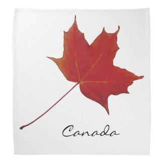Red maple clandian leaf bandana