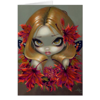 """Red Maple Fairy"" Greeting Card"