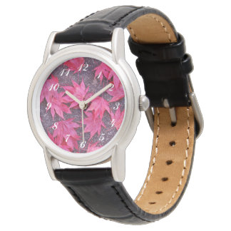 Red Maple Fall Leaves Watch