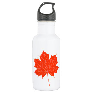Red maple leaf 532 ml water bottle