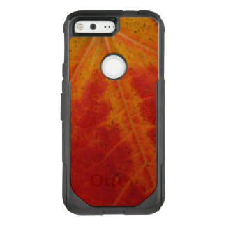 Red Maple Leaf Abstract Autumn Nature Photography OtterBox Commuter Google Pixel Case