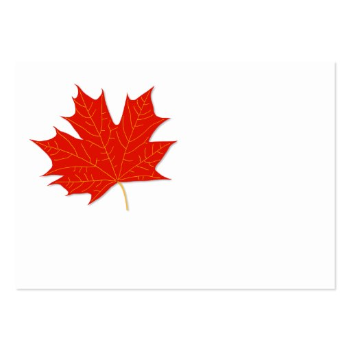 Red maple leaf business card templates