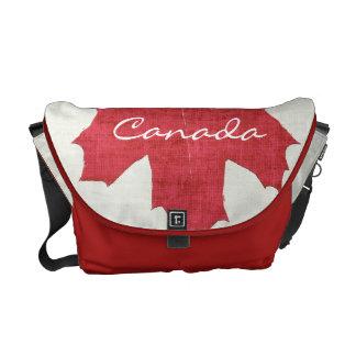 red maple leaf canadian flag bag courier bag