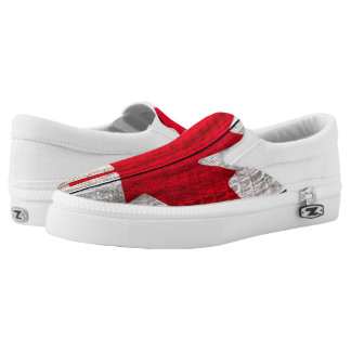 red maple leaf canadian flag Slip-On sneakers