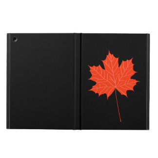 Red maple leaf cover for iPad air