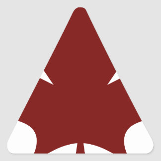 Red Maple Leaf Icon Triangle Sticker
