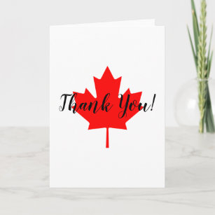 Personalized Thank You Card Canada Thank You Card Maple Leaf Card Funny Gratitude Card for Any Occasion