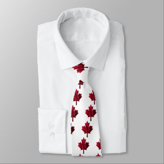 Red Maple Leaf Tie