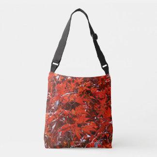 Red Maple Leaves Crossbody Bag