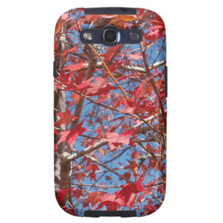 Red Maple Leaves Galaxy SIII Covers