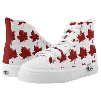 Red Maple Leaves Hi Tops