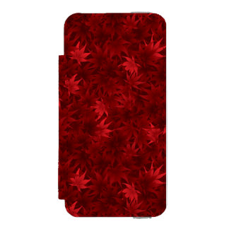 Red maple leaves pattern incipio watson™ iPhone 5 wallet case