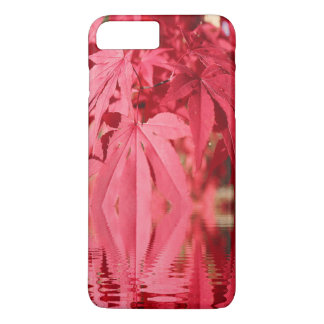Red Maple Leaves Reflections iPhone 7 Plus Cases