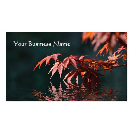 Red maple reflections business card