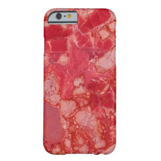 Red Marble Barely There iPhone 6 Case