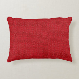 Red Marble Decorative Designer Accent Pillows