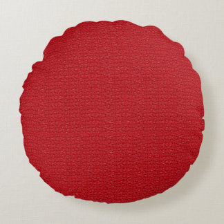Red Marble Decorative Designer Round Pillow Sale
