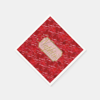 Red Marble Decorative Paper Napkin