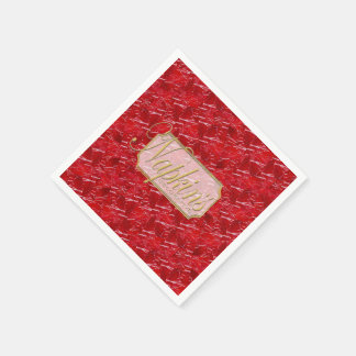 Red Marble Decorative Paper Napkin 2
