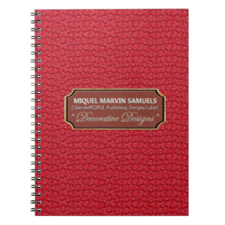 Red Marble Pattern Decor Modern Notebook