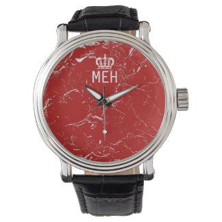 Red Marble Royal Minor Monogram Watch
