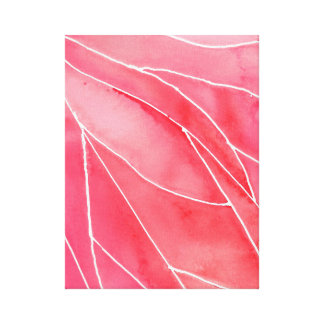 Red Marble Watercolour Break Canvas Print