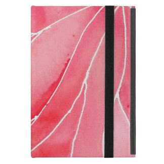 Red Marble Watercolour Break iPad Mini Case