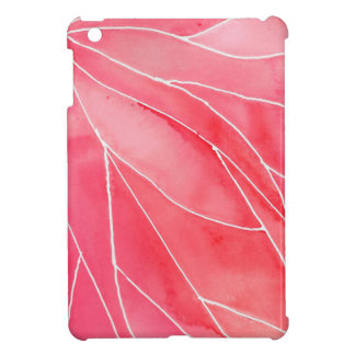 Red Marble Watercolour Break iPad Mini Cover