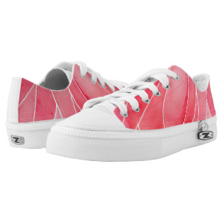 Red Marble Watercolour Break Low-Top Sneakers