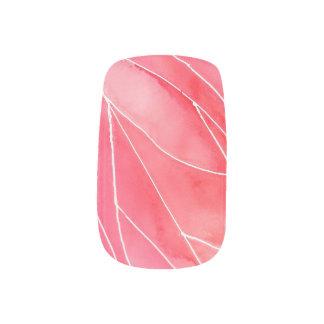 Red Marble Watercolour Break Minx Nail Art