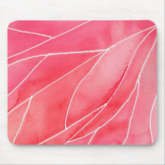Red Marble Watercolour Break Mouse Pad