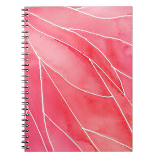 Red Marble Watercolour Break Notebook