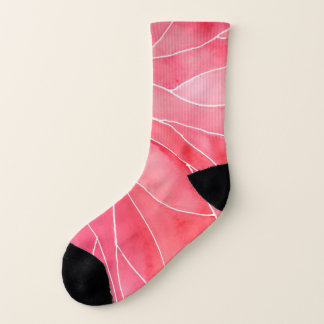 Red Marble Watercolour Break Socks