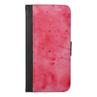 Red Marble Watercolour iPhone 6/6s Plus Wallet Case