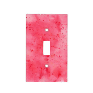 Red Marble Watercolour Light Switch Cover