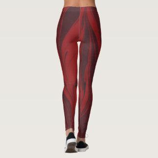 Red Marbled Leggings
