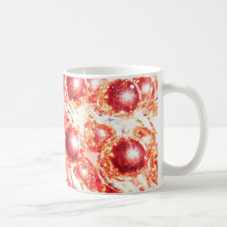 RED MARDI GRAS BEADS COFFEE MUG