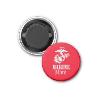 RED Marine Mom 1 Inch Round Magnet