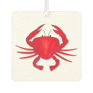 Red Maryland Bay Baltimore Crab Seafood Ocean Car Air Freshener