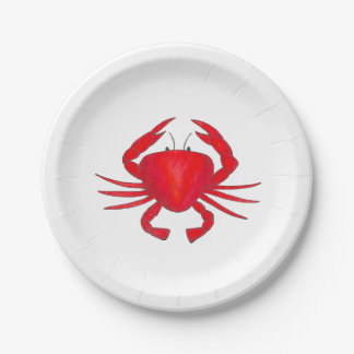 Red Maryland Crab Beach Seafood Crabs Plate