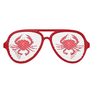 Red Maryland Crab Crabs Beach Party Shades