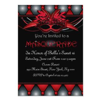 Red Masquerade Invitations