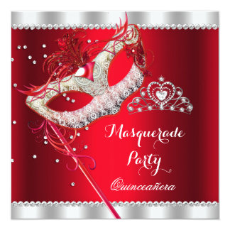... Party Invites, 4,000 Red Quinceanera Party Invitation Templates