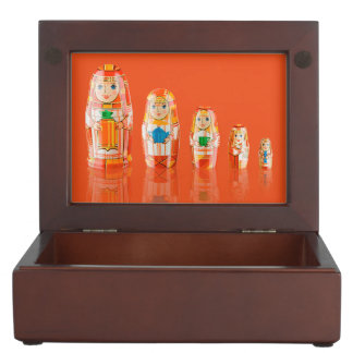 Red Matryoshka Russian Dolls Keepsake Box