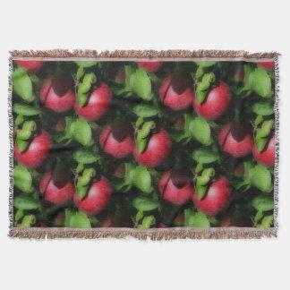Red McIntosh Apples Nature Art Pattern Throw Blanket