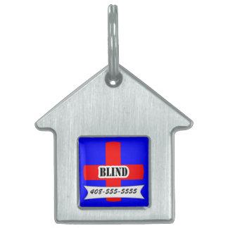 Red Medic Alert Blind Pet Name Template Pet Pet Name Tag