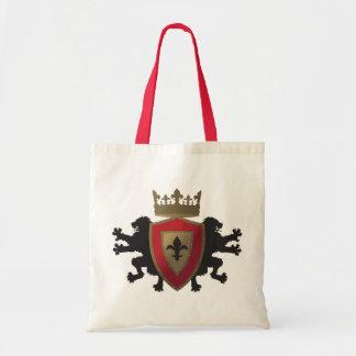 Red Medieval Lion Heraldry Tote Bag
